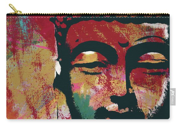 Awakened Buddha 4- Art By Linda Woods Carry-all Pouch