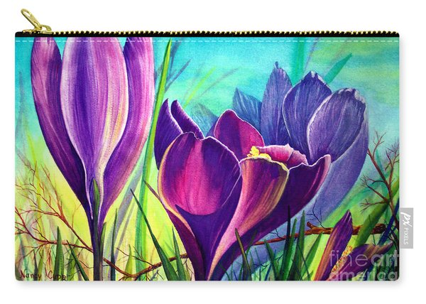 Carry-all Pouch featuring the painting Awakening by Nancy Cupp