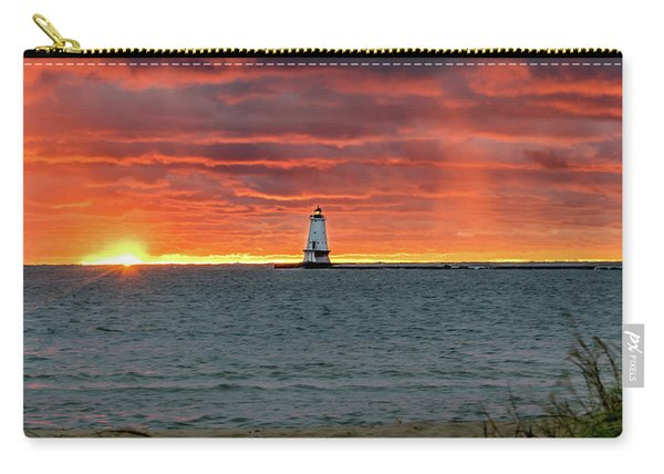 Awesome Sunset With Lighthouse  Carry-all Pouch