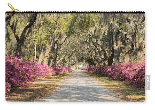 azalea lined road in Spring Carry-all Pouch