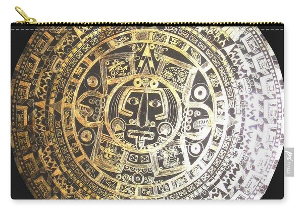 Aztec Calendar Carry-all Pouch