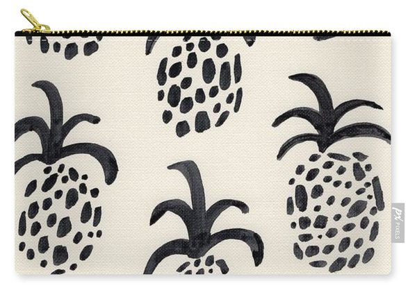 B And W Pineapple Print Carry-all Pouch
