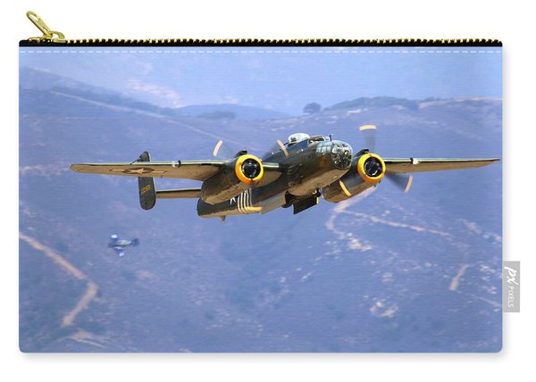 B25 Mitchell Flyby At Salinas Carry-all Pouch