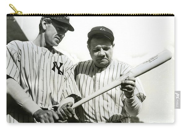 Babe Ruth And Lou Gehrig Carry-all Pouch