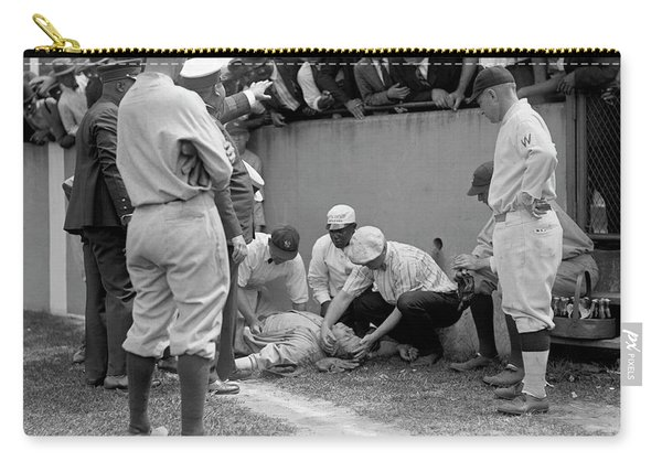 Babe Ruth Knocked Out By A Wild Pitch Carry-all Pouch