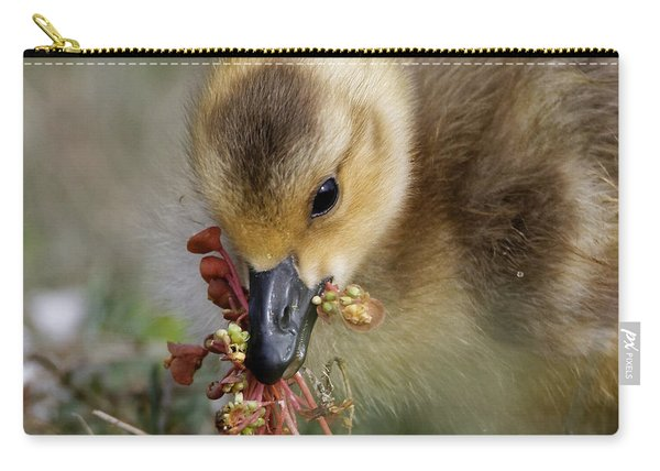 Baby Chick With Water Flowers Carry-all Pouch