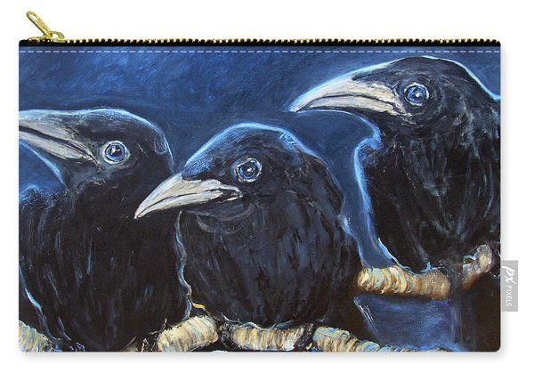 Baby Crows Carry-all Pouch