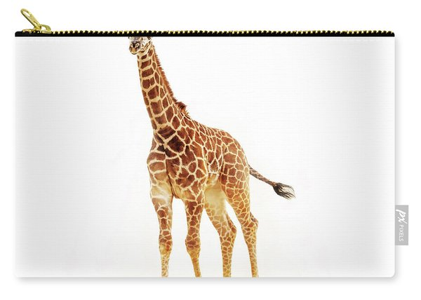 Baby Giraffe Isolated On White Carry-all Pouch