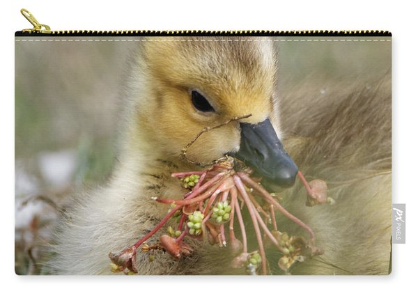 Baby Gosling Collecting Flowers Carry-all Pouch