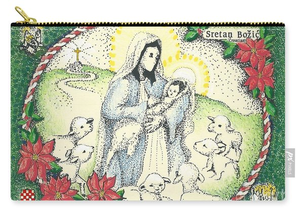 Baby Jesus In Medjugorje Carry-all Pouch