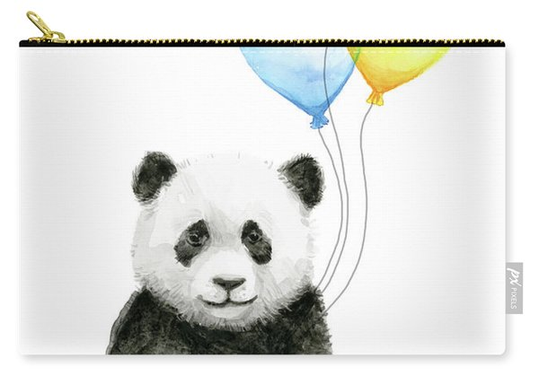 Baby Panda With Heart-shaped Balloons Carry-all Pouch
