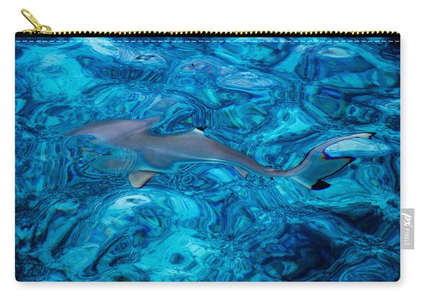 Baby Shark In The Turquoise Water. Production By Nature Carry-all Pouch