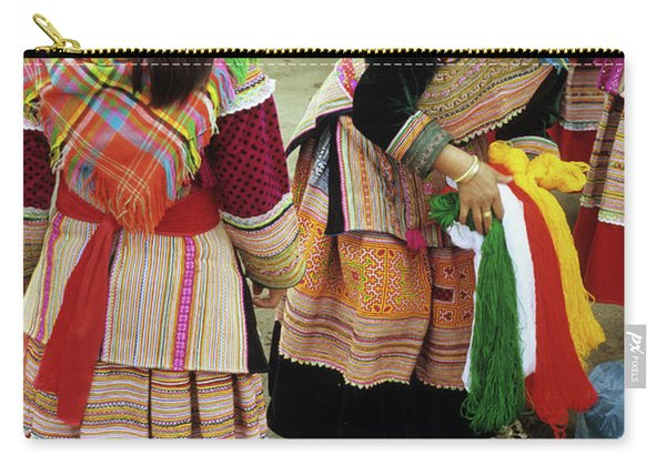 Flower Hmong Wool Stall 03 Carry-all Pouch