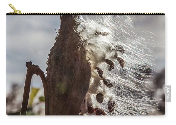 Back Lit Milkweed Pod Carry-all Pouch