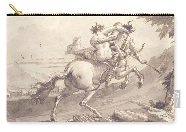 Back View Of A Centaur Abducting A Satyress Carry-all Pouch
