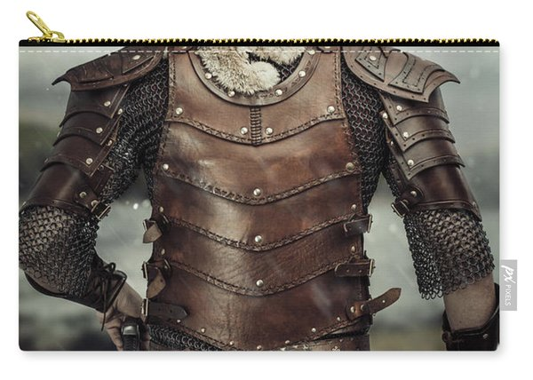 Back View Of Viking Costume Carry-all Pouch