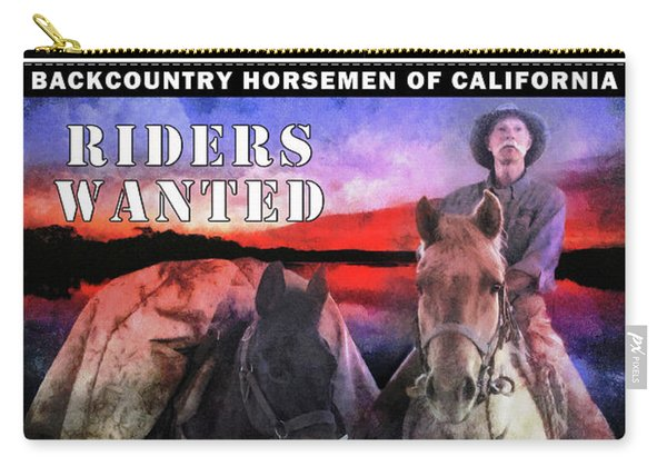 Backcountry Horsemen Join Us Poster II Carry-all Pouch