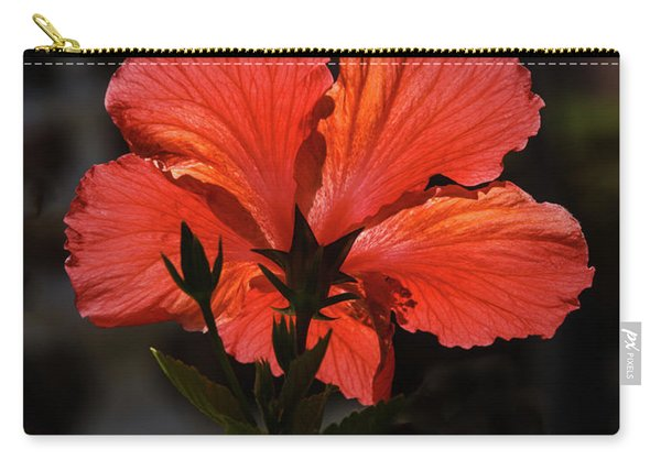 Backlit Hibiscus Carry-all Pouch