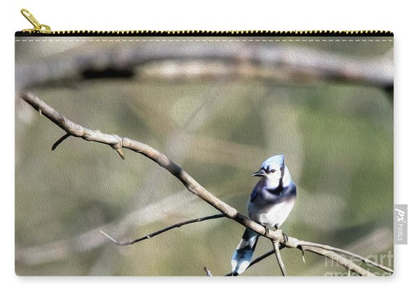Backyard Blue Jay Oil Carry-all Pouch