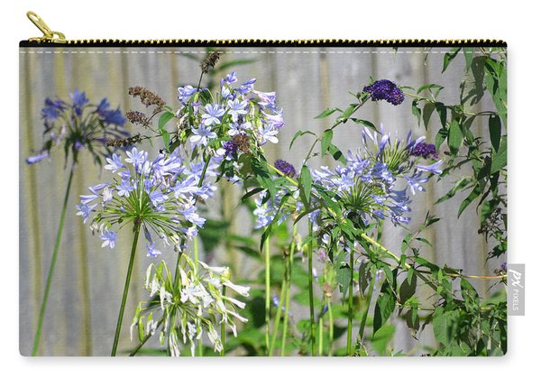 Carry-all Pouch featuring the photograph Backyard Flowers by Michael Colgate