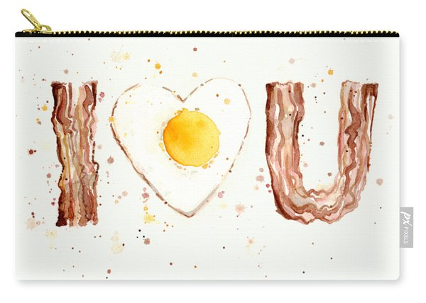 Bacon And Egg I Love You Carry-all Pouch