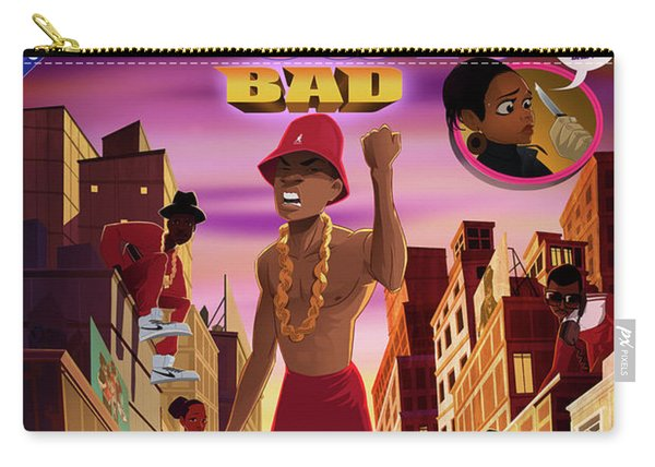 Carry-all Pouch featuring the digital art BAD by Nelson  Dedos Garcia