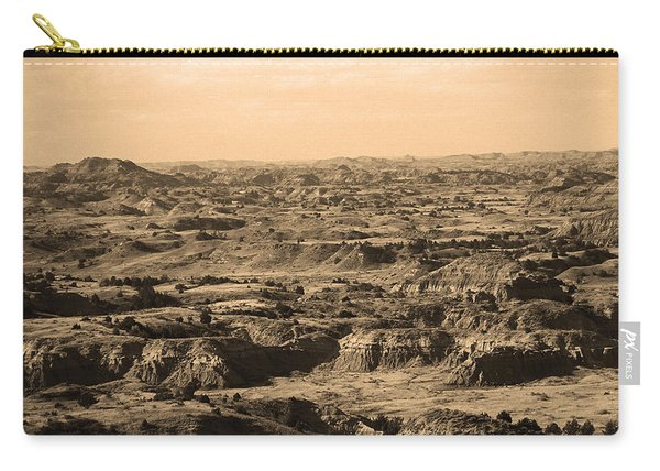 Badlands #3 Sepia Carry-all Pouch