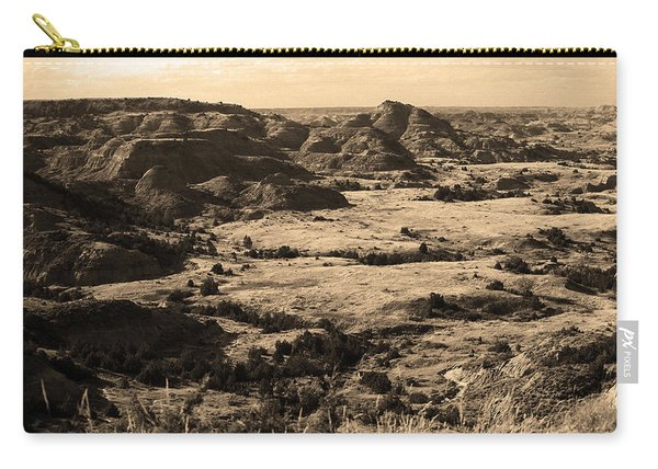 Badlands #4 Sepia Carry-all Pouch