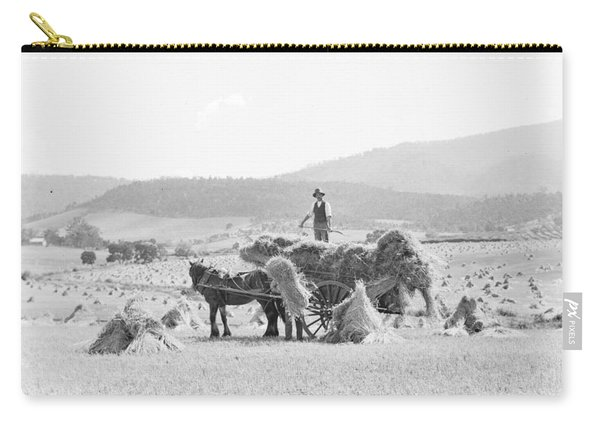 Bailing Hay Onto Horse And Cart, Tasmania C1900s Carry-all Pouch