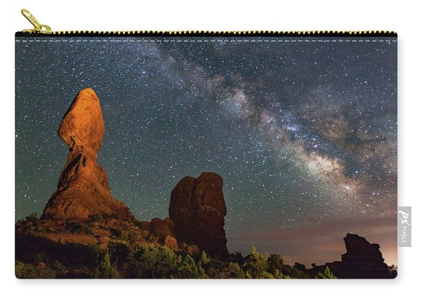 Balanced Rock And Milky Way Carry-all Pouch