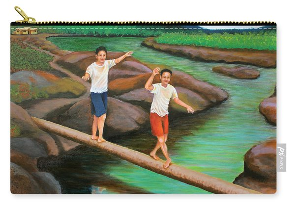 Balancing Life Through A Straight And Narrow Path Carry-all Pouch