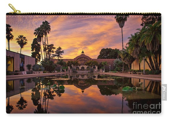 Carry-all Pouch featuring the photograph Balboa Park Botanical Building Sunset by Sam Antonio Photography