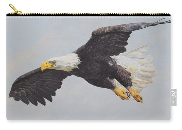 Carry-all Pouch featuring the painting Bald Eagle by Alan M Hunt