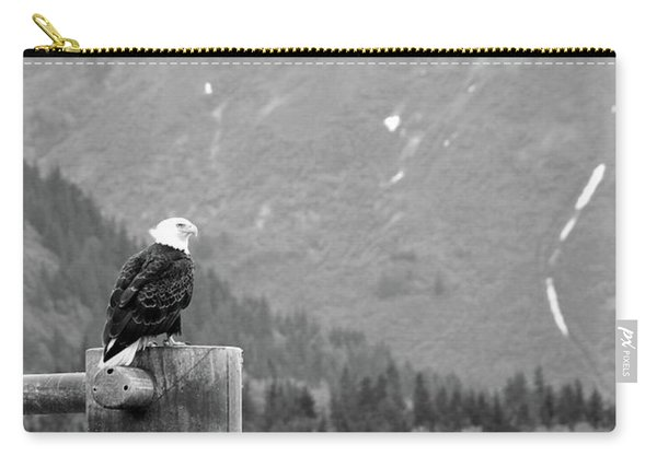 Bald Eagle Black And White Carry-all Pouch