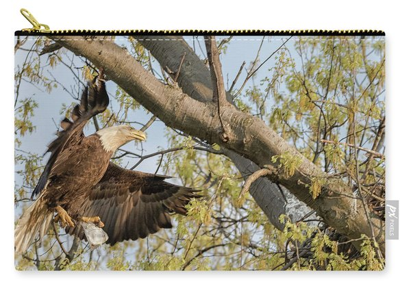 Bald Eagle Catch Of The Day  Carry-all Pouch