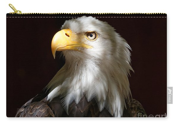 Bald Eagle Closeup Portrait Carry-all Pouch
