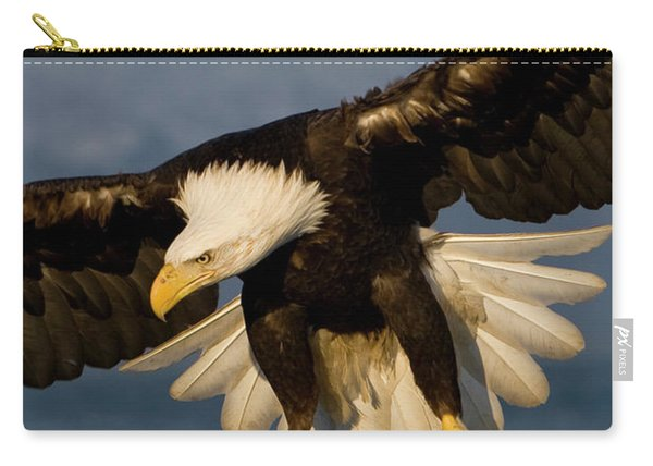 Bald Eagle In Action Carry-all Pouch
