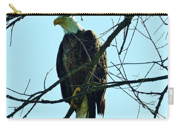 Bald Eagle Over The Root River Carry-all Pouch