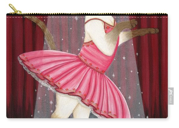 Ballerina Cat - Dancing Siamese Cat Carry-all Pouch