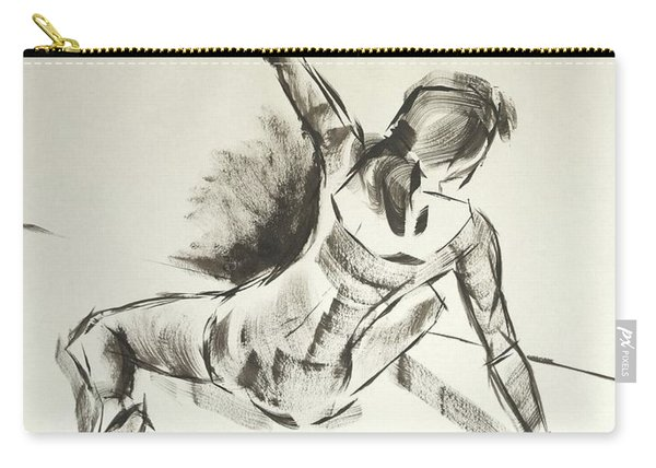 Ballet Dancer Sitting On Floor With Weight On Her Right Arm Carry-all Pouch