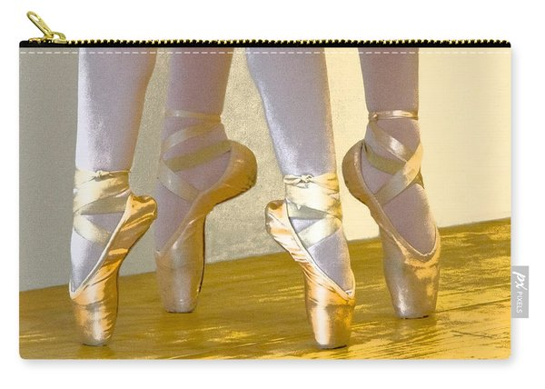 Ballet Second Position In Gold Carry-all Pouch