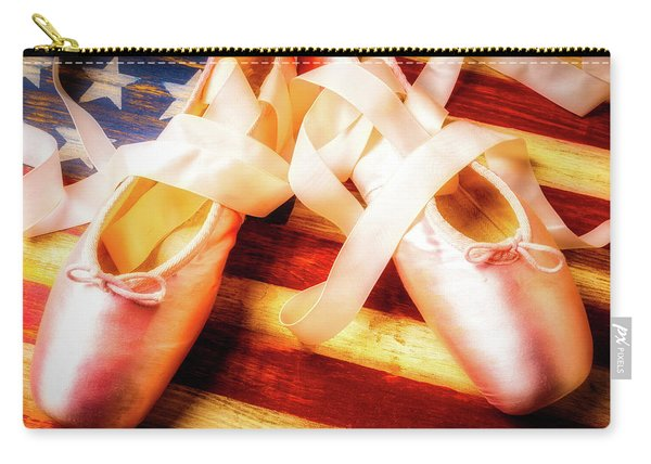 Ballet Shoes On Flag Carry-all Pouch