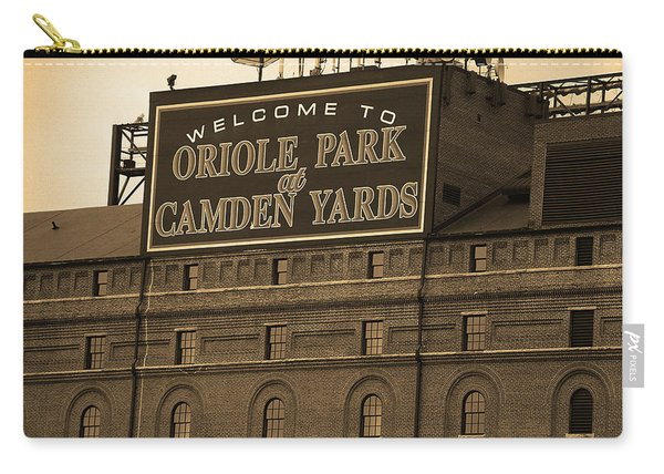 Baltimore Orioles Park At Camden Yards Sepia Carry-all Pouch
