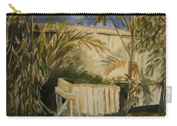 Bamboo And Herb Garden Carry-all Pouch