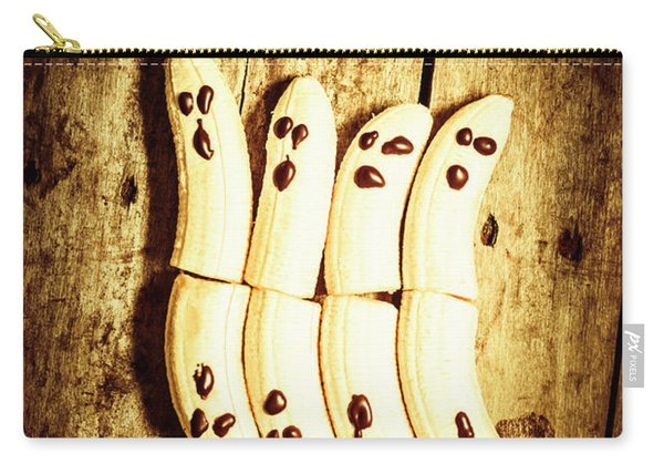 Banana Ghosts Looking To Split At Halloween Party Carry-all Pouch