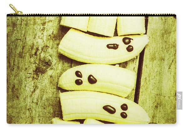 Bananas With Painted Chocolate Faces Carry-all Pouch