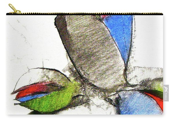 Carry-all Pouch featuring the drawing Bar Nickle  by Cliff Spohn