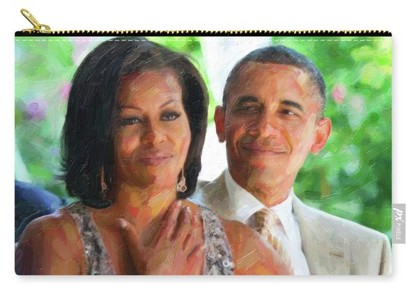 Barack And Michelle Obama Carry-all Pouch