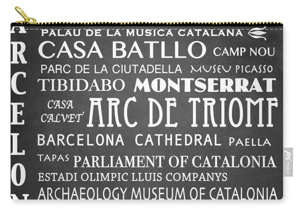 Barcelona Famous Landmarks Carry-all Pouch