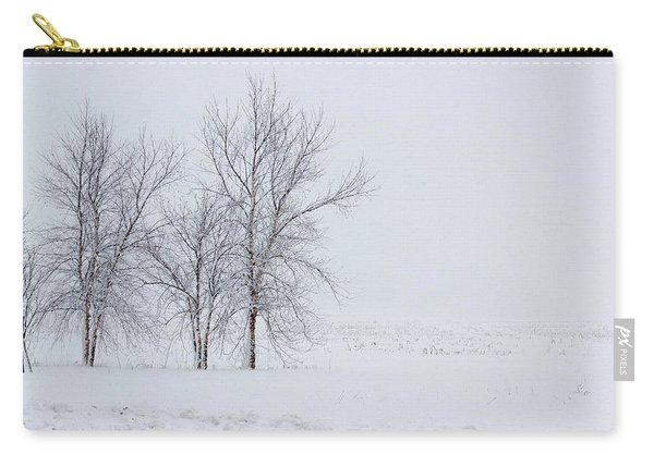 Bare Trees In A Snow Storm Carry-all Pouch